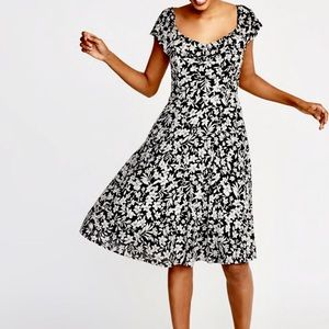 Black & White Floral Ruffle Summer Dress Old Navy